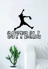 Softball Pitcher Quote Decal Sticker Vinyl Wall Room Decor Decoration Boop Decals