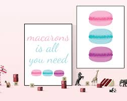 Macaron Print Macaron Wall Art Macaron Prints Macaron Printable Macaron Deco Kitchen Wall Decal Kitchen P Kitchen Wall Decals Wall Art Printable Wall Art