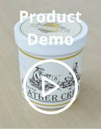 cream leather conditioner and cleaner