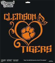 Details About Clemson Tigers University Football Vinyl Decal Tigerheart Car Window Sticker New Football Vinyl Decal Car Window Stickers Vinyl Decals