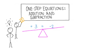 one step equations addition and