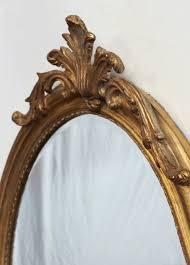 oval louis xvi mirror oval beveled