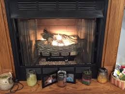 clean light your gas log fireplace