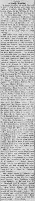 Myrtle Adams wed William Kinsey Paducah Sun Democrat 1-19-1910 ...