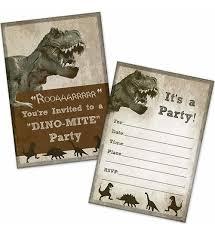 Invitaciones De La Fiesta De Cumpleanos Del Dinosaurio T Rex