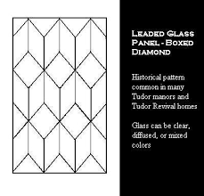 tudor window leaded glass panels