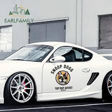 Earlfamily 43cm X 37 4cm Cartoon Top Rap Artist Car Stickers Jdm Decal Waterproof Vinyl Car Wrap Creative Bulldog Car Styling Car Stickers Aliexpress
