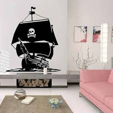 Nautical Home Decor Pirate Ship Caribbean Sea Wall Sticker Living Room Vinyl Ocean Sea Waves Decals House Removable Murals B 18 Sea Wall Stickers Wall Stickerwall Sticker Living Room Aliexpress