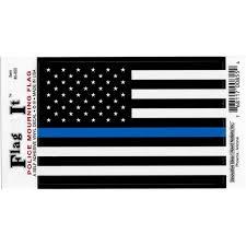 United States Thin Line Flag Car Decal Sticker Pack Of 2 Black White Blue 3 25 X 4 75 Walmart Com Walmart Com