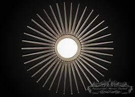silver starburst mirror large