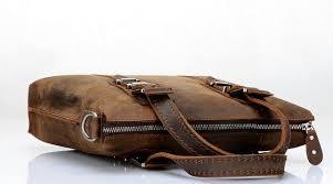 distressed leather messenger bag men