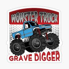 Grave Digger Stickers Redbubble
