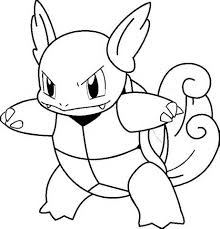 Squirtle Pokemon Coloring Pages Blastoise