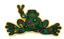 Peace Frog Car Decal Cardecal