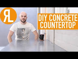 how to make a concrete countertop it s
