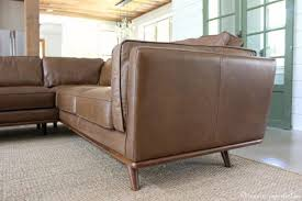 my leather sectional from article aka