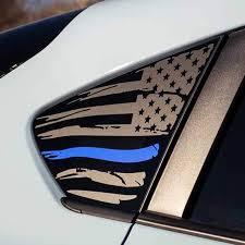 2018 Subaru Crosstrek American Flag With Colored Stripe Window Decal Everything Vinyl Decal
