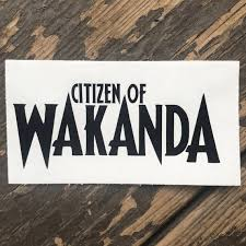 Citizen Of Wakanda Black Panther Inspired Decal For Car Etsy