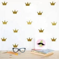Gold Crown Wall Decals For Boys Room Or Girls Room Wall Decor Multiple Colors Nordicwallart Com