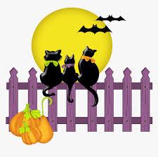 Transparent Halloween Bat Clipart Clipart Cat On Fence Hd Png Download Kindpng