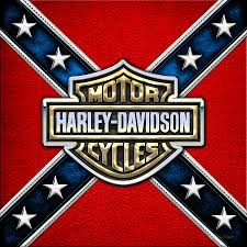 Harley Davidson And Rebel Flag Sticker Custom Wall Graphics