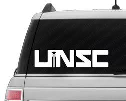 Halo Inspired Unsc Vinyl Decal Unsc Decal Halo Decal Video Game Decal Custom Vinyl Stickers Vinyl Decals Vinyl
