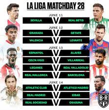 La Liga Match day 28 schedule