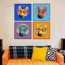 Square Pop Art Music Dog Cool Canvas Posters Nordic Baby Kids Room Wall Art Print Picture Home Decor Canvas Painting Safari Nursery Wall Art Pop Art Decor Kids Room Wall Art