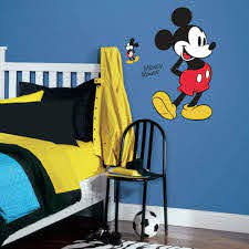 Roommates Mickey Mouse Peel And Stick Giant Wall Decals Multicolor Amazon Com