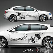 Barcelona Barcelona Real Madrid Soccer Team Marked Car Door Vehicle Car Stickers Full Car Pull Flower Stickers
