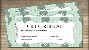 12 blank gift certificate templates