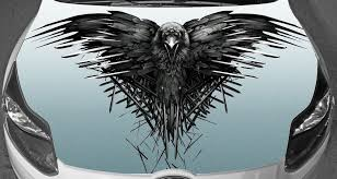 Car Hood Full Color Graphics Vinyl Sticker Raven Game Of Thrones Decal Car Graphics Decals Ravens Game Car Graphics