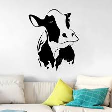 Cow Wall Decal Living Room Home Decoration Vinyl Wall Stickers Animals Kitchen Removable Art Mural Wallpaper Kids Room Z222 Wall Decals Living Room Kids Roomwall Decals Aliexpress