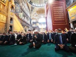 Restored as Mosque, Hagia Sophia Opens Up to Islamic Prayers - WSJ