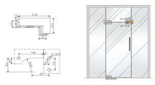frameless glass door sss corner patch