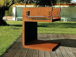 corten barbecue c bq by metalco