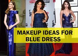 makeup tips and ideas for blue dress