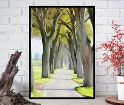 oil painting printnature wall artnature