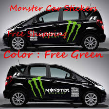 1 Set Wholesale Drop Shipping New Styling Reflective Mon Ster Cool Modified Drift Monster Vehicle Car Stickers Lada Full Body 29 Monster Car Car Car Stickers
