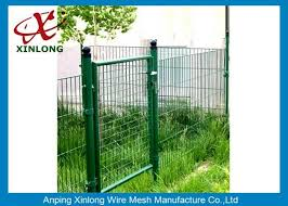 Customized Dark Green Welded Mesh Fence Gate For Private Yard And Garden