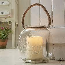 square glass tealight candle lantern