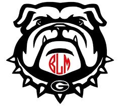 Georgia Bulldogs Monogram Logo Vinyl Decal Car Truck Suv Etsy