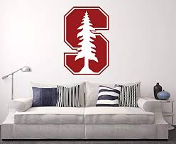 Amazon Com West Mountain Stanford Cardinal Wall Decal Home Decor Art Ncaa Team Sticker Home Kitchen