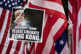Hong Kong protesters call on Trump to 'liberate' them from Chinese ...