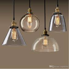 new vintage clear glass pendant light