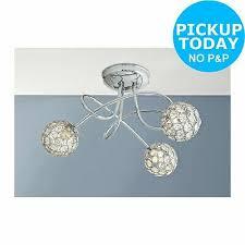 argos home amelia 3 light beaded globes