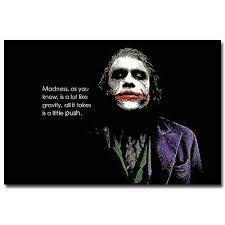 batman the dark knight joker quotes motivational art silk poster
