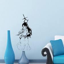 Shop Japanese Manga Girl Battle Sword Vinyl Decal Sticker Overstock 8636173