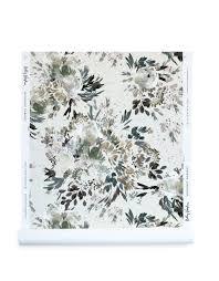 midnight garden wallpaper in linen
