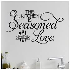 This Kitchen Is Seasoned With Love Vinyl Lettering Wall Decal Etsy